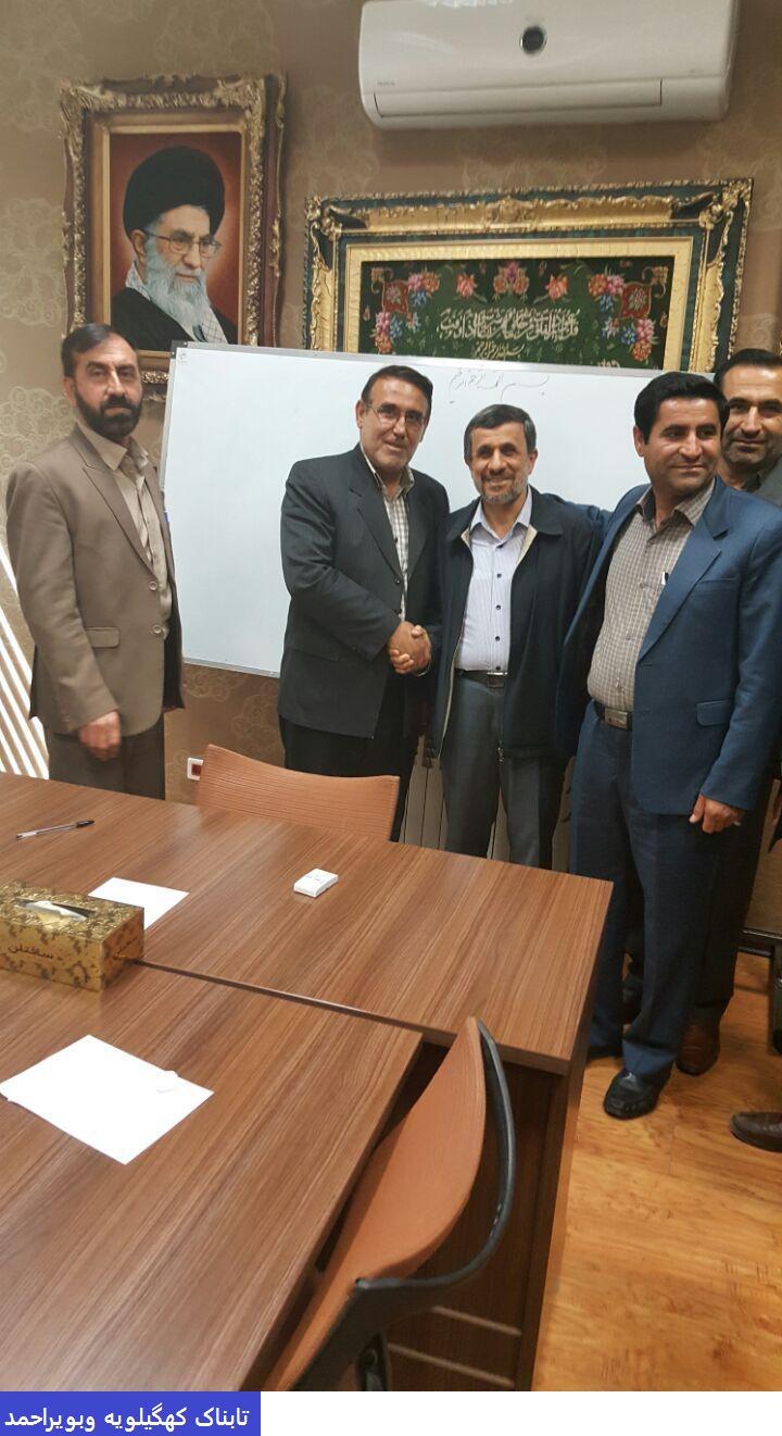 اولین خط و نشان انتخاباتی مدیران کهگیلویه ای احمدی نژاد + تصاویر