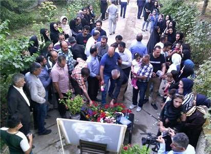 گلباران منزل داوود رشیدی در کلاردشت+عکس