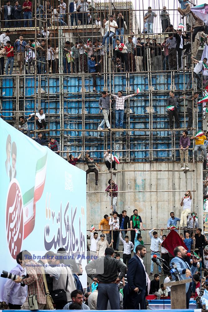 گزارش تصویری گردهمایی آیت الله ریسی در عرصه میدان شهدا