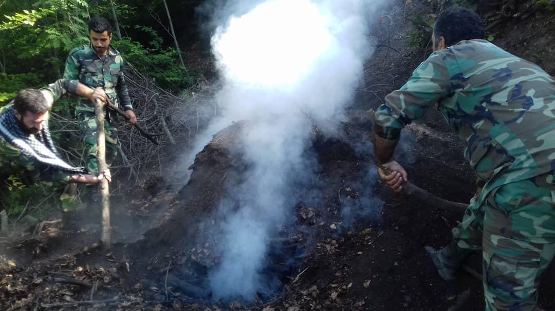 کشف و تخریب کورههای غیرمجاز زغال